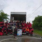 Pompiers de l'Urgence Internationale (PUI) équipés de valise Aqualink UF de Sunwaterlife