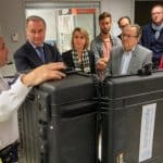 Valise Aqualink UF de Sunwaterlife présentée à M. Moudenc, maire de Toulouse